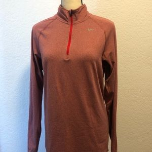 Nike Running Active Red Pink Dri-Fit Long Sleeve